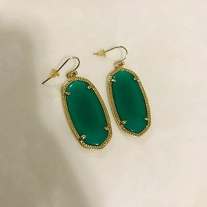 Emerald Green Kendra Scott Earrings